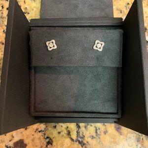 David Yurman Diamond Earrings in 18K White Gold